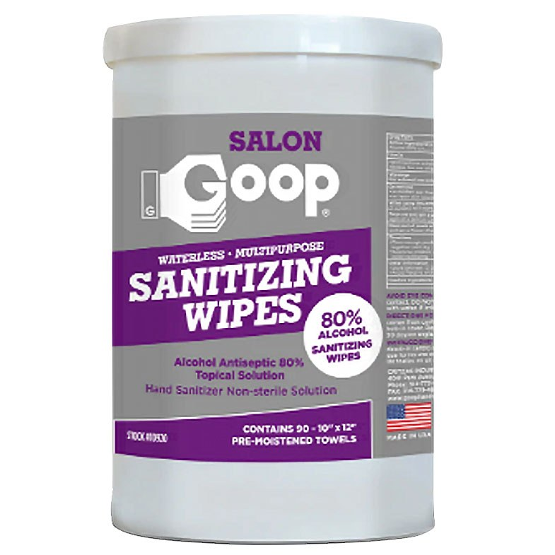 GOOP SALON GOOP 80% Alcohol Disinfecting Wipes 90 ct